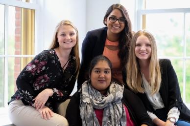 Christine Howald, Kiran Bajwa, Farihah Chowdhury, Irina Gorea