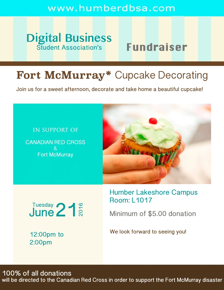 Cupcake Decorating Fundraiser for the Fort McMurray disaster