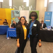 Prabhavi (fourth year) and Michallia (second year) at WiDS Conference