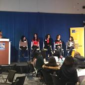 Panelists at the WiDS Conference