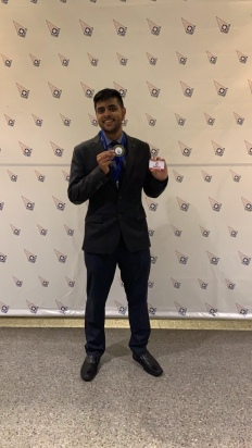 Devan Shingadia - First Place Winner at DECA Competition